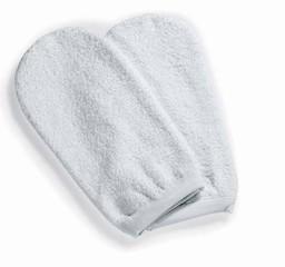 Masážní rukavice froté bílá