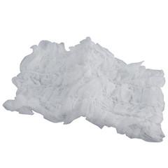 Jednorázová čelenka z netkané textilie bílá s růžovým prošíváním 1 ks