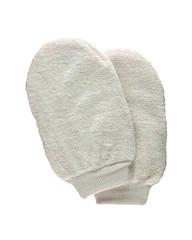 Masážní rukavice peelingová světlá