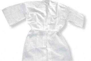 Jednorázové kimono z netkané textilie, bílý, 10 ks