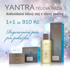 1+1 zdarma Gerards Yantra Antioxidační tělový olej + Yantra tělový peeling